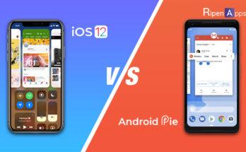 android 9 pie vs ios 12